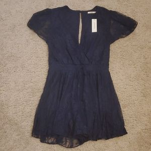 NWT Navy Lace Romper